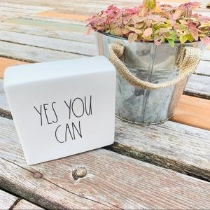 Rae Dunn Yes You Can Inspirational desk sign